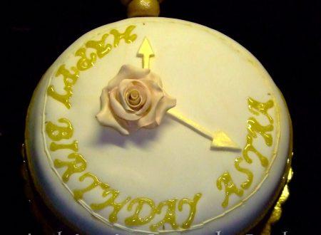 Torta Orologio da Tasca, decorata in pasta di zucchero