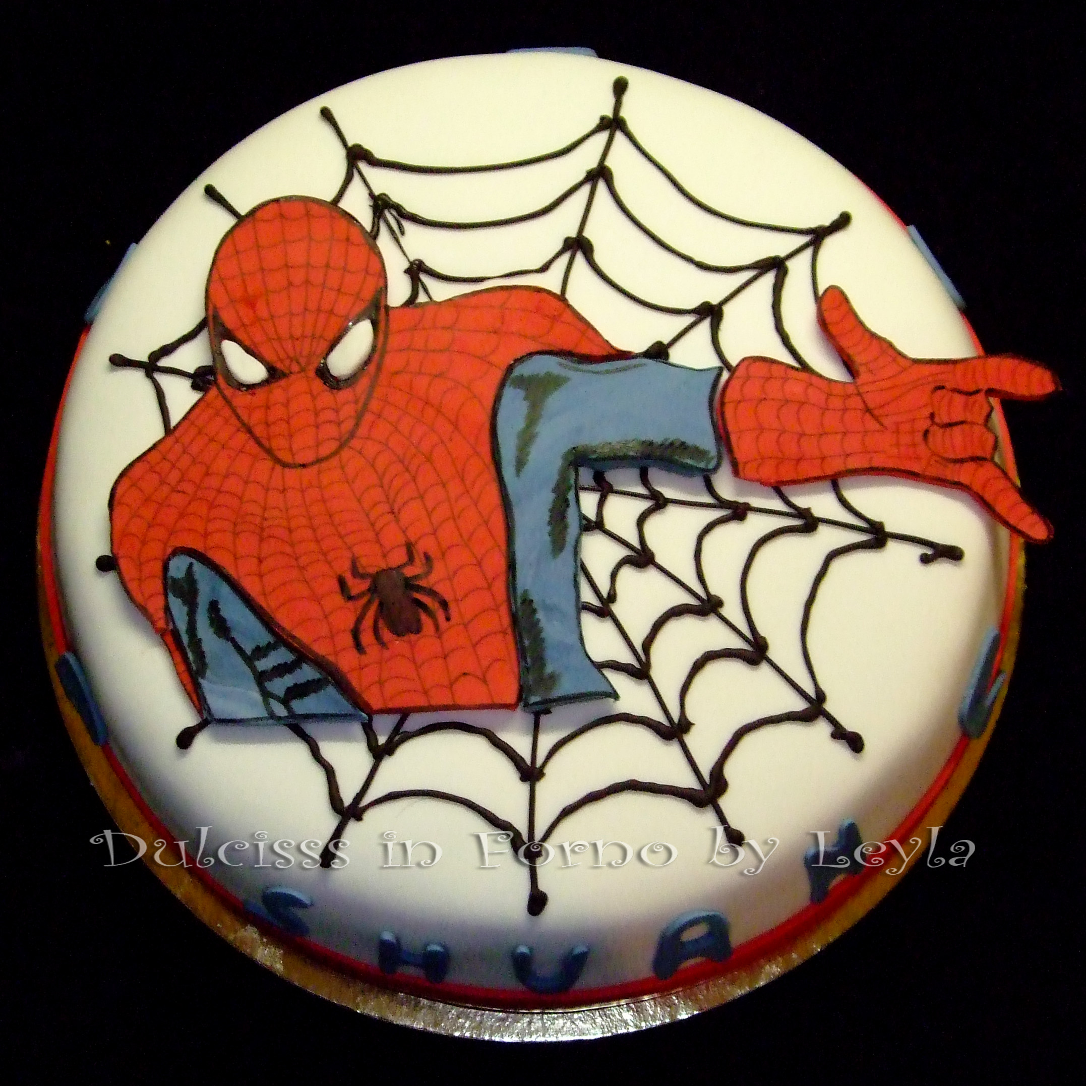 Torta Uomo Ragno Spiderman Cake Decorata In Pasta Di