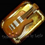 Torta Chitarra elettrica Gibson Les Paul, decorata in pasta di zucchero | Dulcisss in forno |