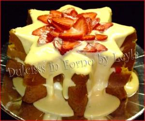 Stella di pandoro con crema al mascarpone e fragole | ricetta riciclo pandoro | avanzi delle feste | dolce natalizio | ricetta di Natale | Dulcisss in forno |