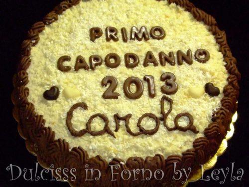 Torta con crema al cioccolato bianco e fondente: la torta di Capodanno di Carola