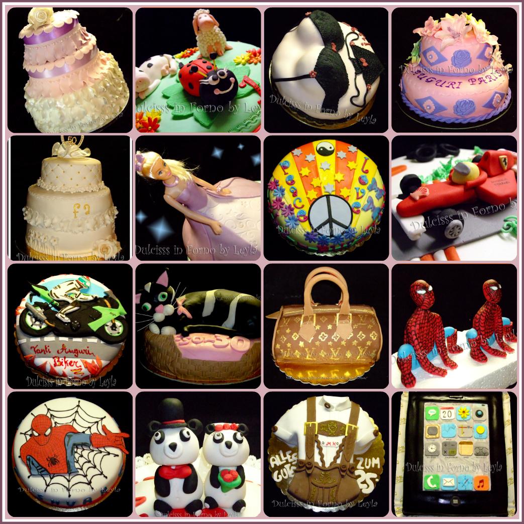Torte decorate in pasta di zucchero di Dulcisss in forno Indice Raccolta Elenco