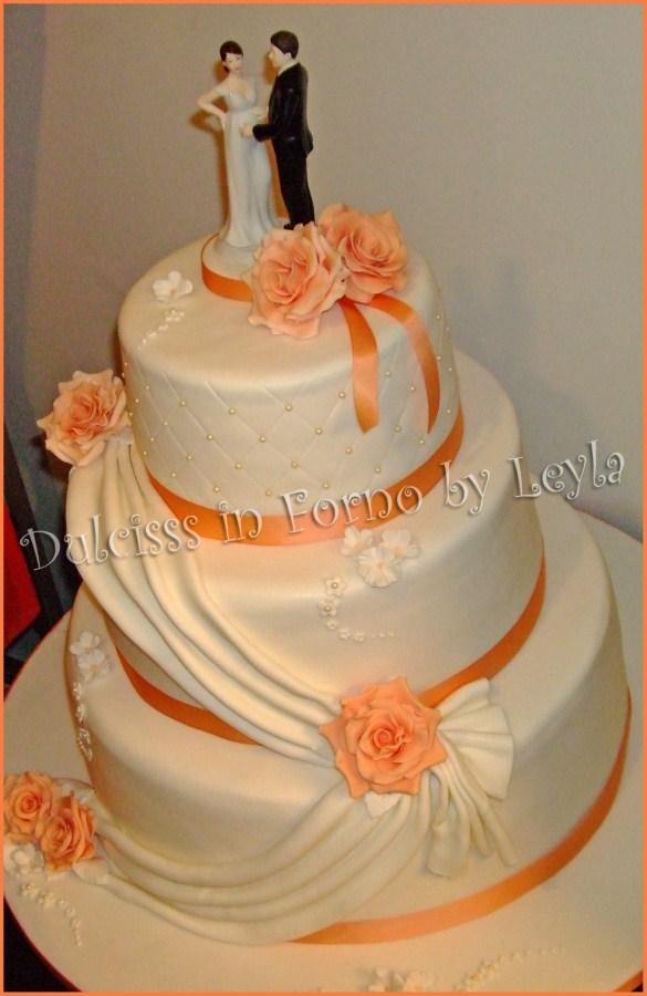 Favori Wedding Cake Rose e Drappeggi | pasta di zucchero | ZD53