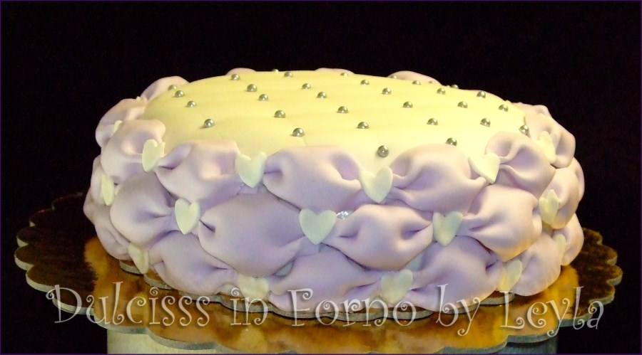 Billowing Tutorial passo passo pasta di zucchero PDZ step by step tecnica decorativa cake design effetto gonfio effetto fiocchetti effetto sbuffo French Contour Dulcisss in forno
