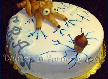 Torta Era glaciale con Scrat – Ice age Cake