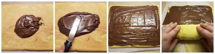 Rotolo alla Nutella veloce, ricetta semplice e golosa Dulcisss in forno by Leyla