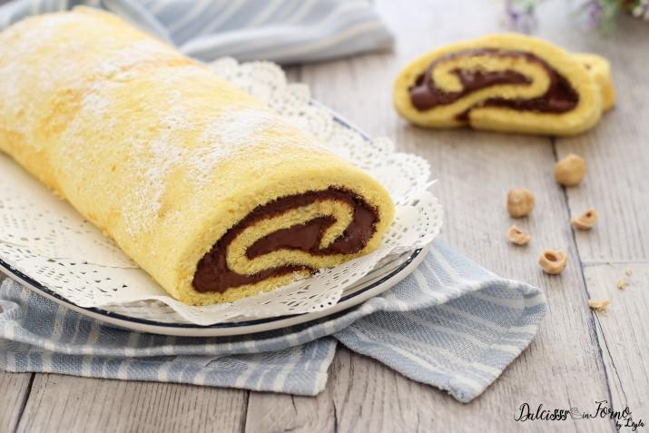 Ricetta Rotolo alla Nutella veloce, ricetta semplice e golosa Dulcisss in forno by Leyla