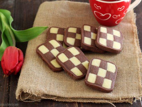Biscotti a scacchi bianchi e neri, ricetta passo passo