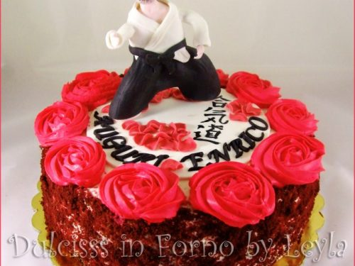 Aikido Cake, decorata in pasta di zucchero