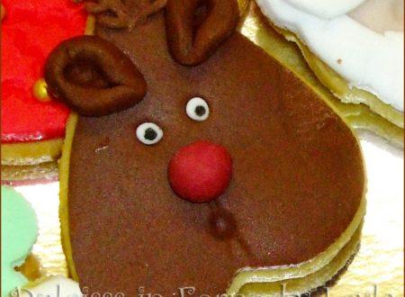 Biscotti renna decorati in pasta di zucchero, tutorial