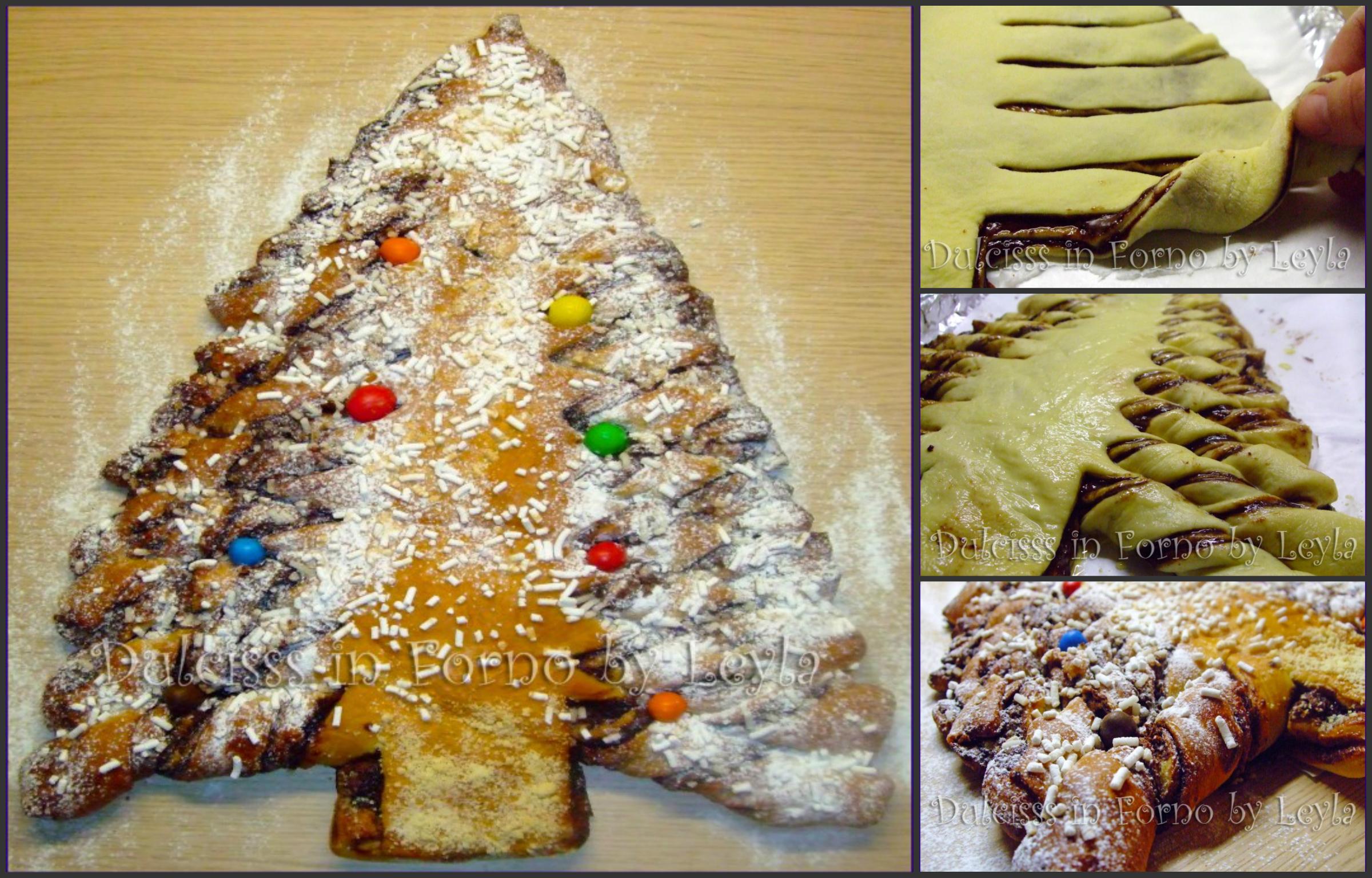 Albero di pan brioche alla nutella: albero di Natale di pan brioche con Nutella