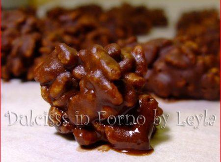 Riso soffiato e cioccolato, ricetta veloce cioccolatini Ciocco Krispies