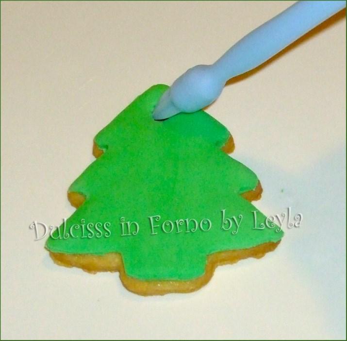 Biscotti Decorati Per Albero Di Natale.Biscotti Albero Di Natale Decorati In Pasta Di Zucchero Tutorial