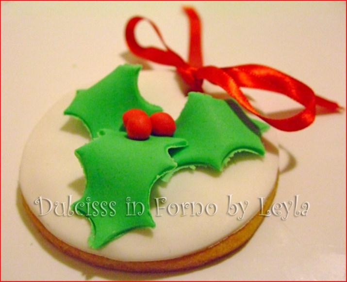 Biscotti Natale Pasta Di Zucchero.Biscotti Decorati Natale Con Agrifoglio Tutorial Pasta Di