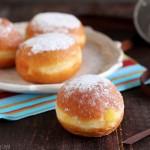 krapfen alla crema pasticcera Dulcisss in forno by Leyla