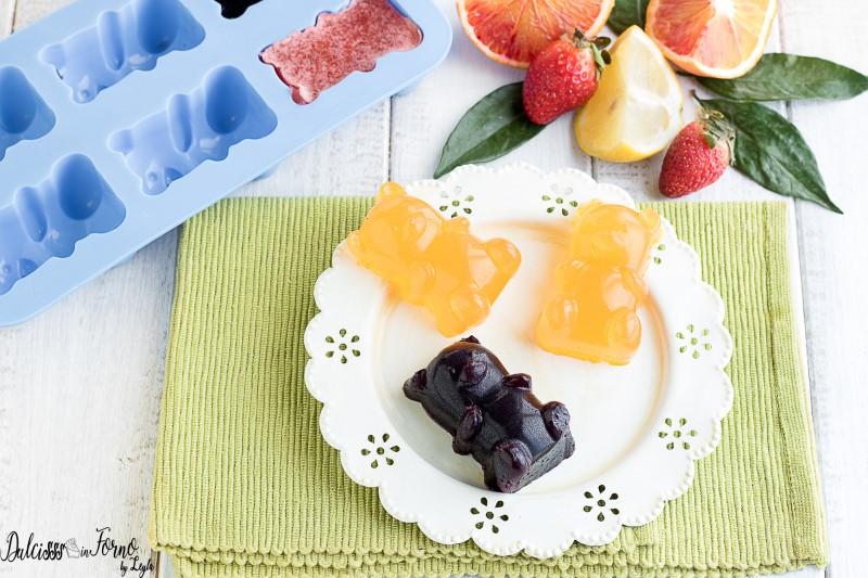 Gelatine di frutta: gli orsetti gommosi