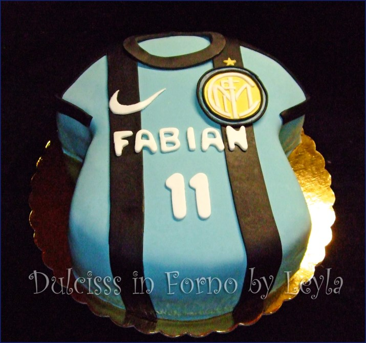 spesso Torta Inter, decorata in pasta di zucchero, per la Festa del papà GB11