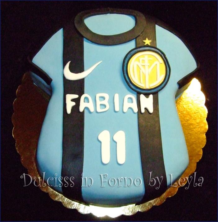 Famoso Torta Inter, decorata in pasta di zucchero, per la Festa del papà HA37