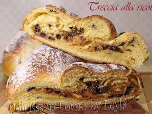 Treccia alla ricotta e gocce di cioccolato o uvetta – Alto Adige