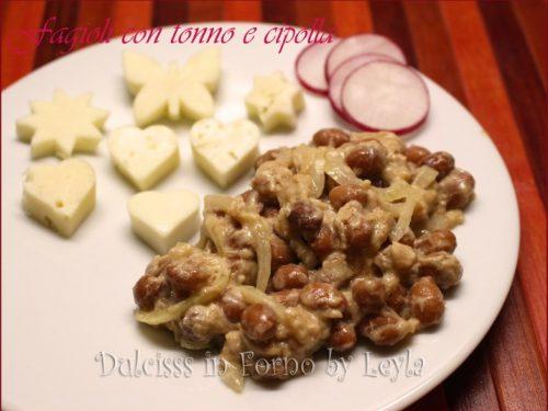Fagioli con tonno e cipolla, piatto unico senza cottura