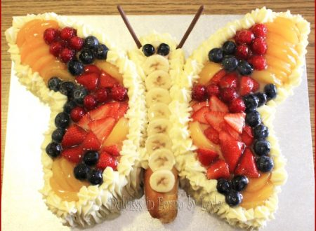 Torta farfalla con frutta passo passo e foto