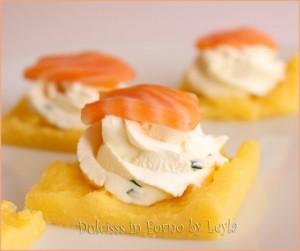 Crostini di polenta, ricetta antipasto con polenta