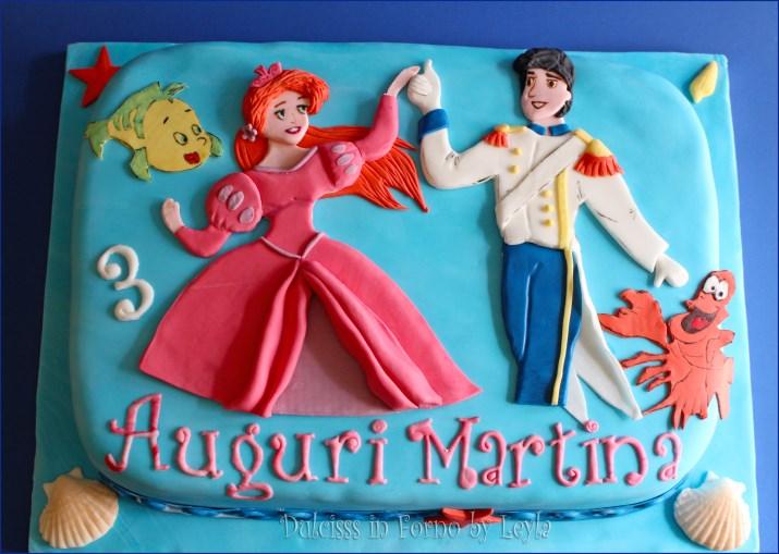 Favorito Torta Ariel la Sirenetta in versione principessa con Eric, in pdz FE84