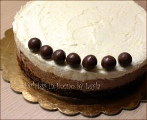 Cheesecake al cioccolato bianco e nero o Semifreddo bicolore ?
