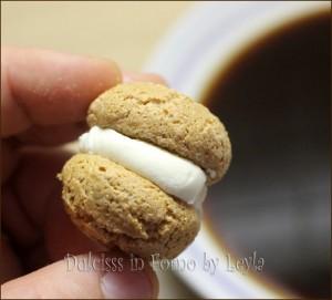 Amaretti con mascarpone e cocco al profumo di caffè Dulcisss in forno by Leyla