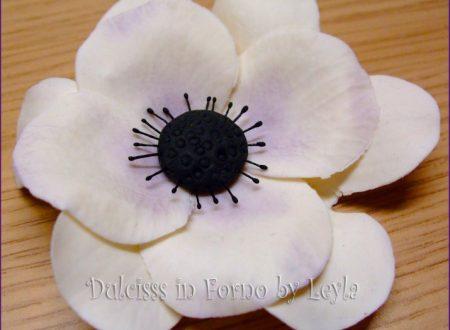 Anemone flower tutorial pasta di zucchero