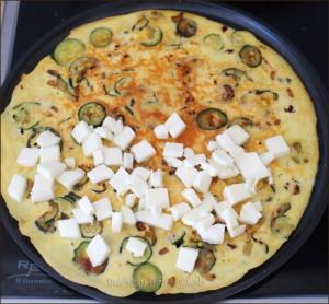 Frittata alle zucchine e scamorza in padella Dulcisss in forno by Leyla
