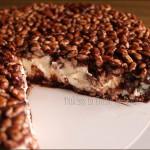 cheesecake al riso soffiato mascarpone e nutella