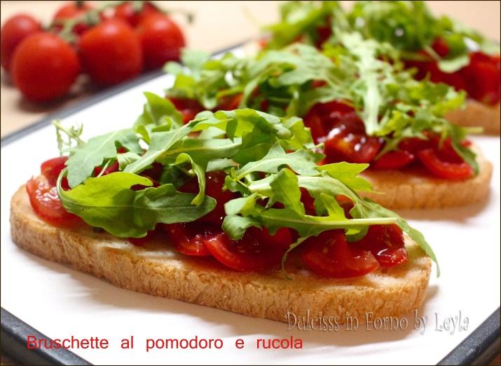 Bruschette al pomodoro e rucola: antipasto o cena ?