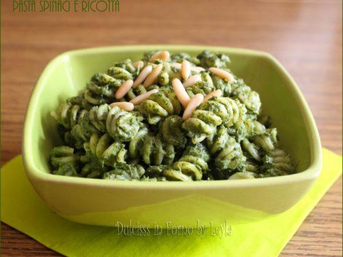 Pasta con ricotta e spinaci, ideale per bambini