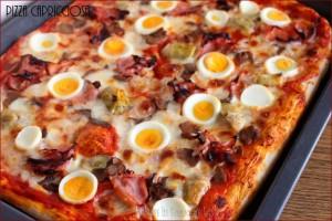 pizza capricciosa pizza con prosciutto pizza con carciofini pizza con con uova sode pizza ai funghi pizza con funghi champignon pizza con funghi trifolati pomodoro mozzarella carciofini uova sode prosciutto cotto funghi champignon funghi prataioli funghi trifolati ricetta impasto per pizza veloce pizza farcita impasto per pizza semplice impasto per pizza facile ricetta semplice ricetta facile ricetta economica ricetta pizza pizze farcite lievito di birra pizza golosa pizza Dulcisss in forno by Leyla