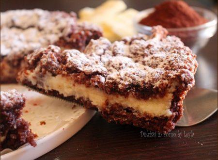Sbriciolata al cacao con crema di ricotta e cioccolato bianco