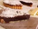 Crostata con mousse al cioccolato fondente e bianco