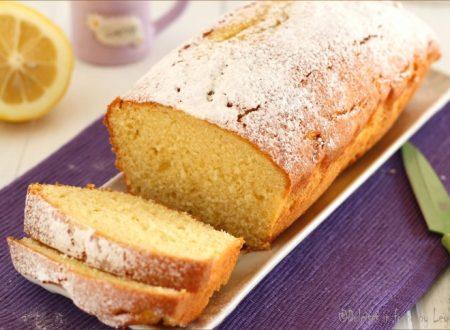 Plumcake al limone e panna, sofficissimo e profumato