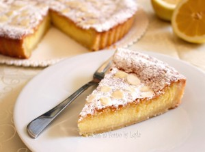 Crostata al limone e mandorle cremosa Dulcisss in forno by Leyla