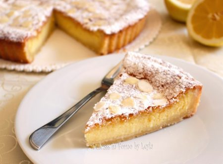 Crostata al limone e mandorle cremosa, con crema al limone e crema frangipane