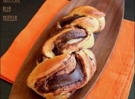Treccia alla nutella di pan brioche o pasta lievitata
