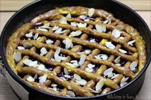 Linzer Torte o Torta di Linz: crostata alta e speziata alla marmellata Dulcisss in forno by Leyla