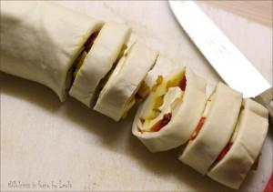 Girelle ai peperoni e scamorza di pasta sfoglia Dulcisss in forno by Leyla