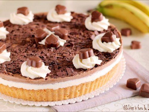 Torta con banane e cioccolato: la Milka Herzen Torte