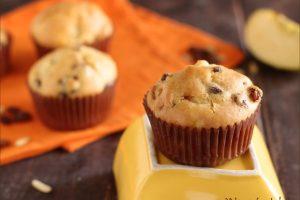 Muffin allo strudel, con mele, uvetta e cannella