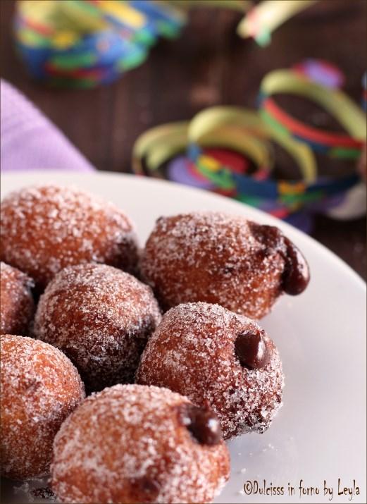 Castagnole alla nutella, ricetta di Carnevale Dulcisss in forno by Leyla