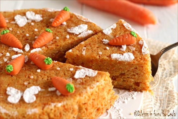 Torta di carote senza mandorle Dulcisss in forno by Leyla