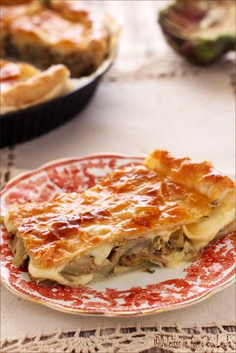 Torta salata ai carciofi e provola Dulcisss in forno by Leyla
