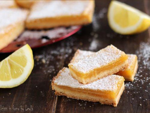 Crostatine al limone cremose o Lemon Bars