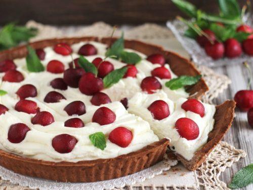Crostata alle ciliegie e crema al mascarpone